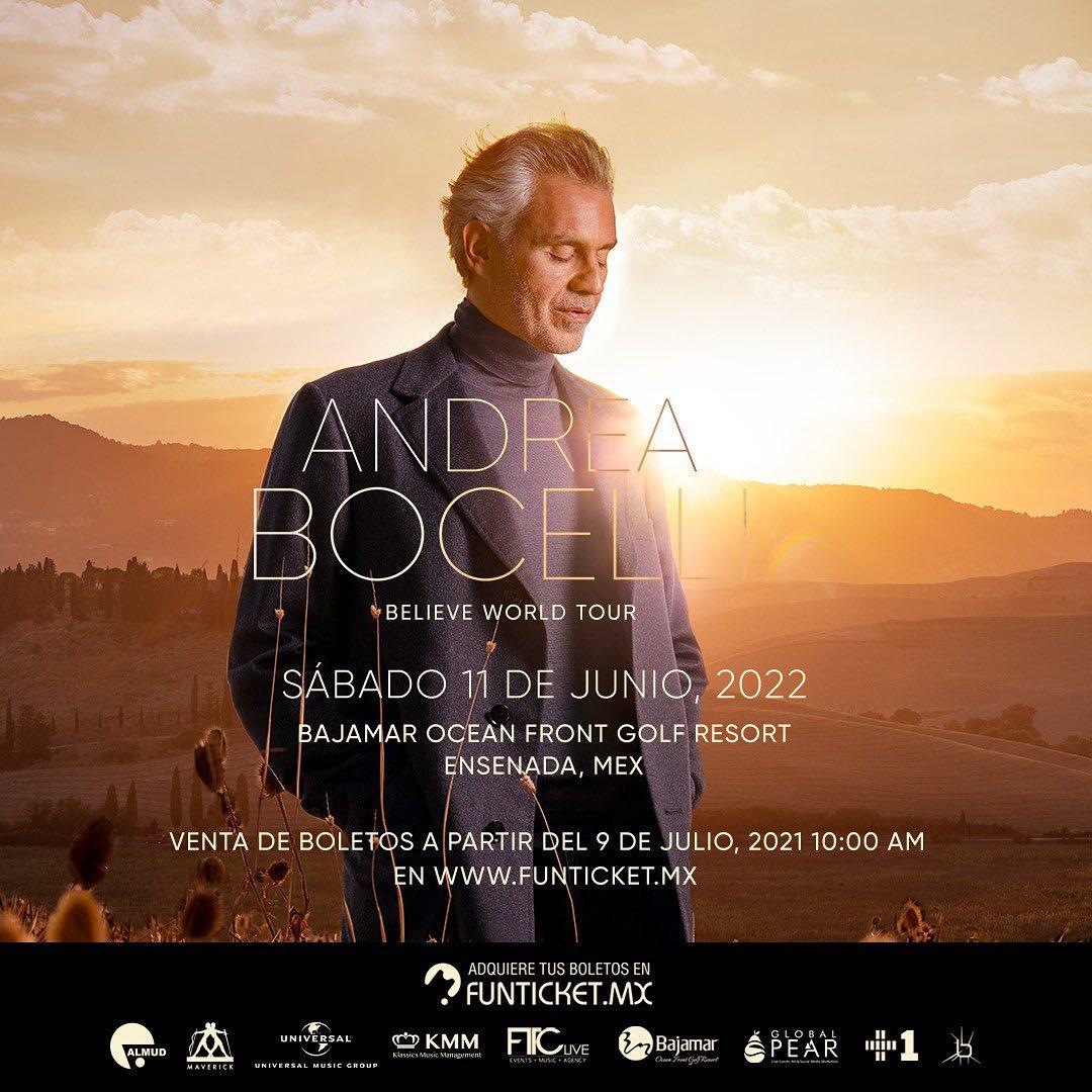 Concierto de Andrea Bocelli en Ensenada 2022